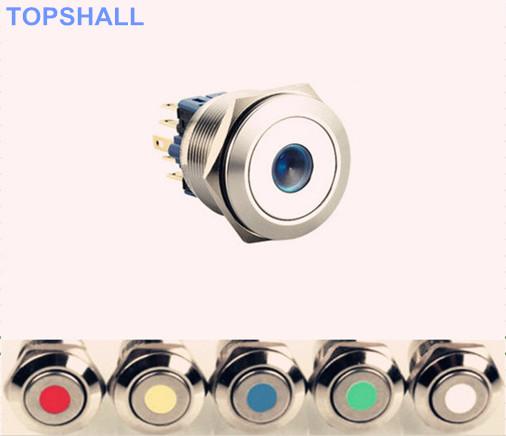 30mm带灯金属按钮