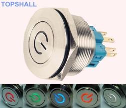 40mm带灯金属按钮